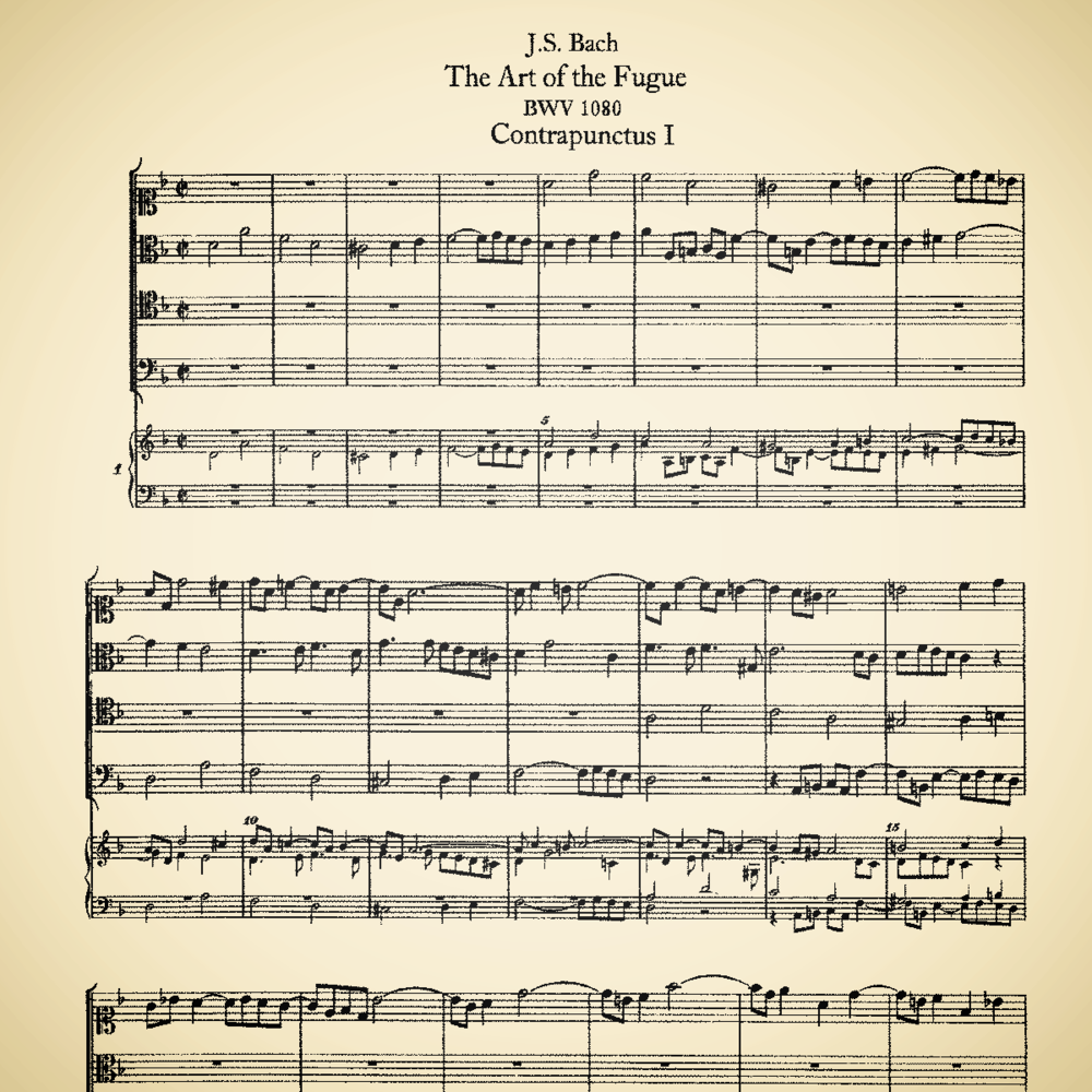 The First Movement of The Art of Fugue