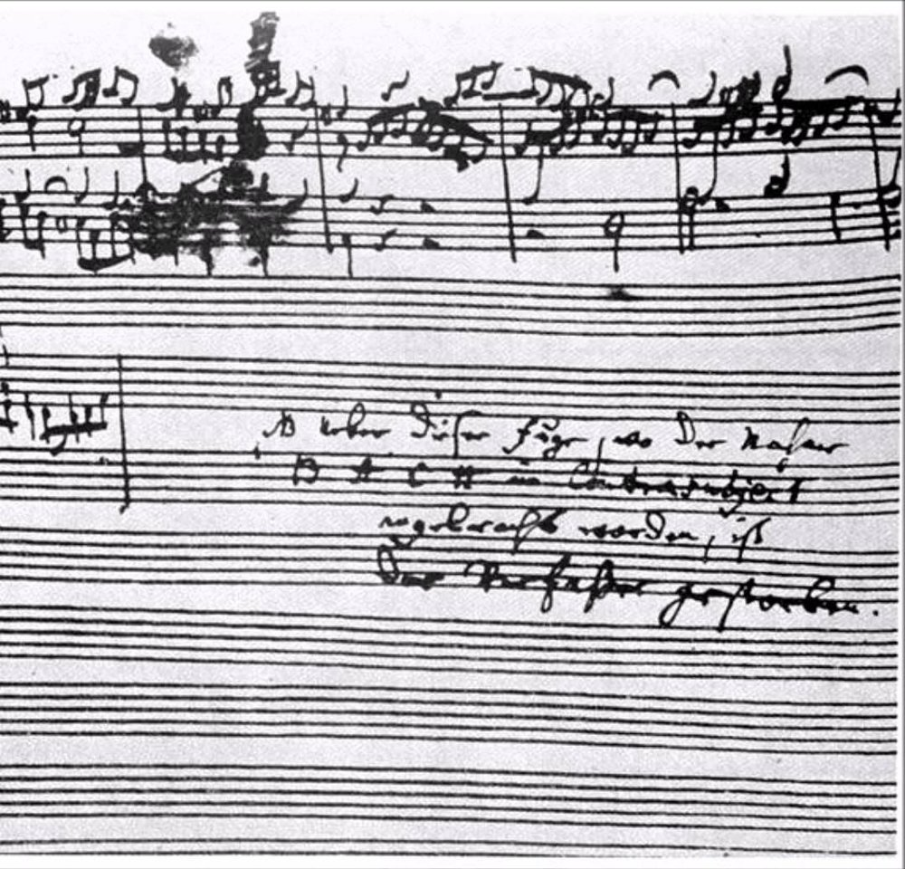 C.P.E. Bach's Note at the end of the Unfinished Fugue