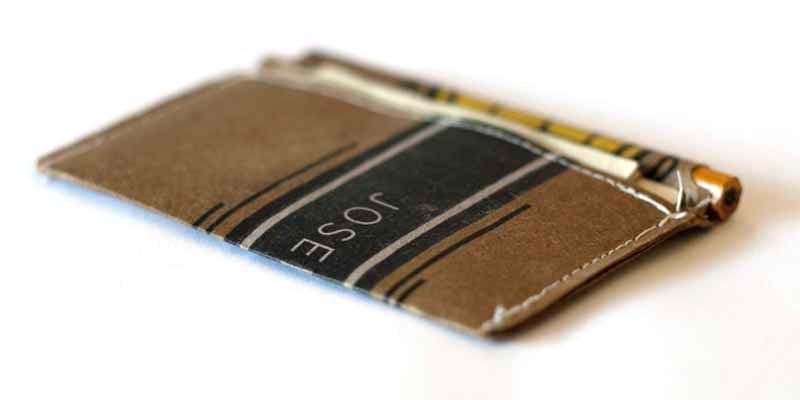 Recycled material billfold