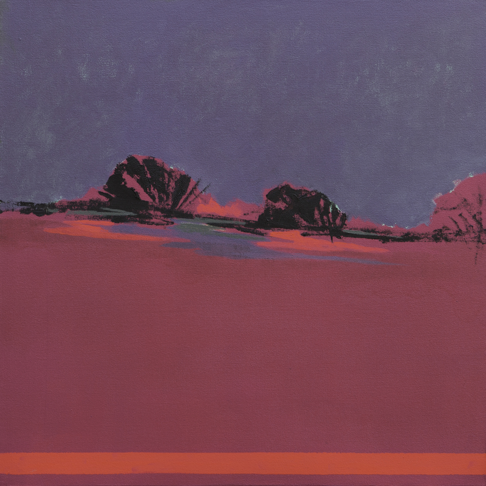 Purple Pink Dawn  - 2014 - Oil on canvas - 28 x 28 inches / 70 x 70 cm