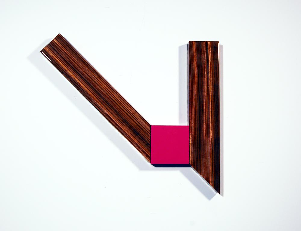 "Puzzle #92  Acrylic, MDF, Zebrawood, UV resin – Unique - 2014 30"" x 18"" x 1.5"" / 76 x 46 x 4 cm"