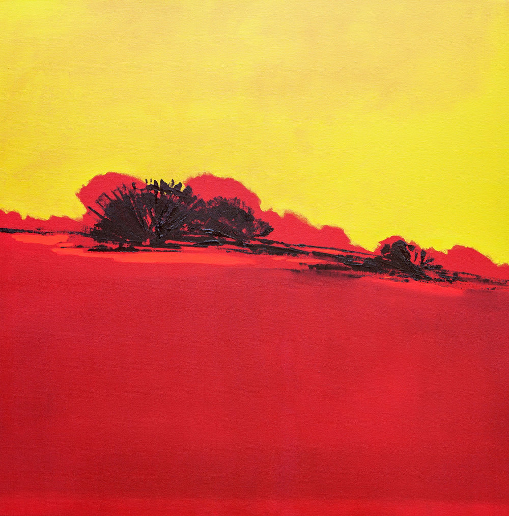 Fuego Red  - 2014 - Oil on canvas - 39 x 39 inches / 100 x 100 cm