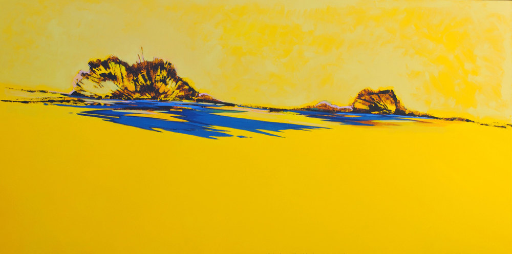 Sunshine Again  - 2015 - Oil on canvas - 39 x 79 inches / 100 x 200 cm