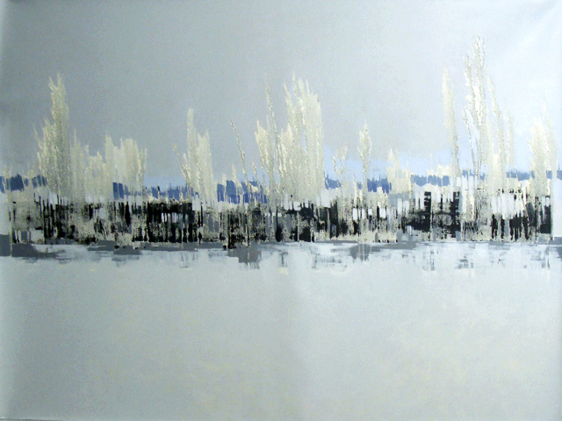 Paisaje Gris y Blanco  – Oil on canvas – 47 x 63 inches / 120 x 160 cm
