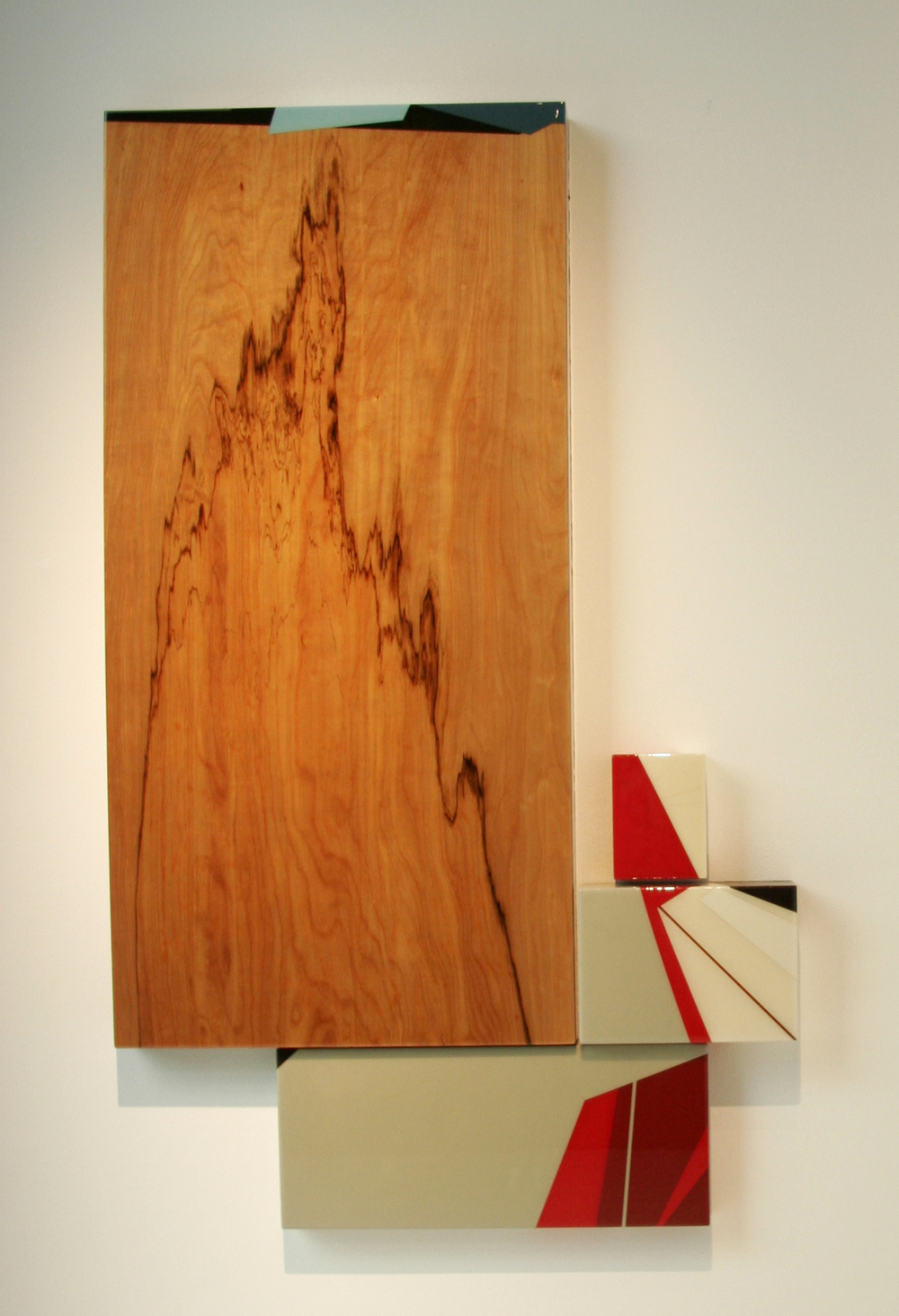 Puzzle 22  Acrylic, unknown hardwood, MDF, UV resin (1) 30x60x3.5in, (1) 12x24x2in, (1) 12x16x3in, (1) 6x8x3in