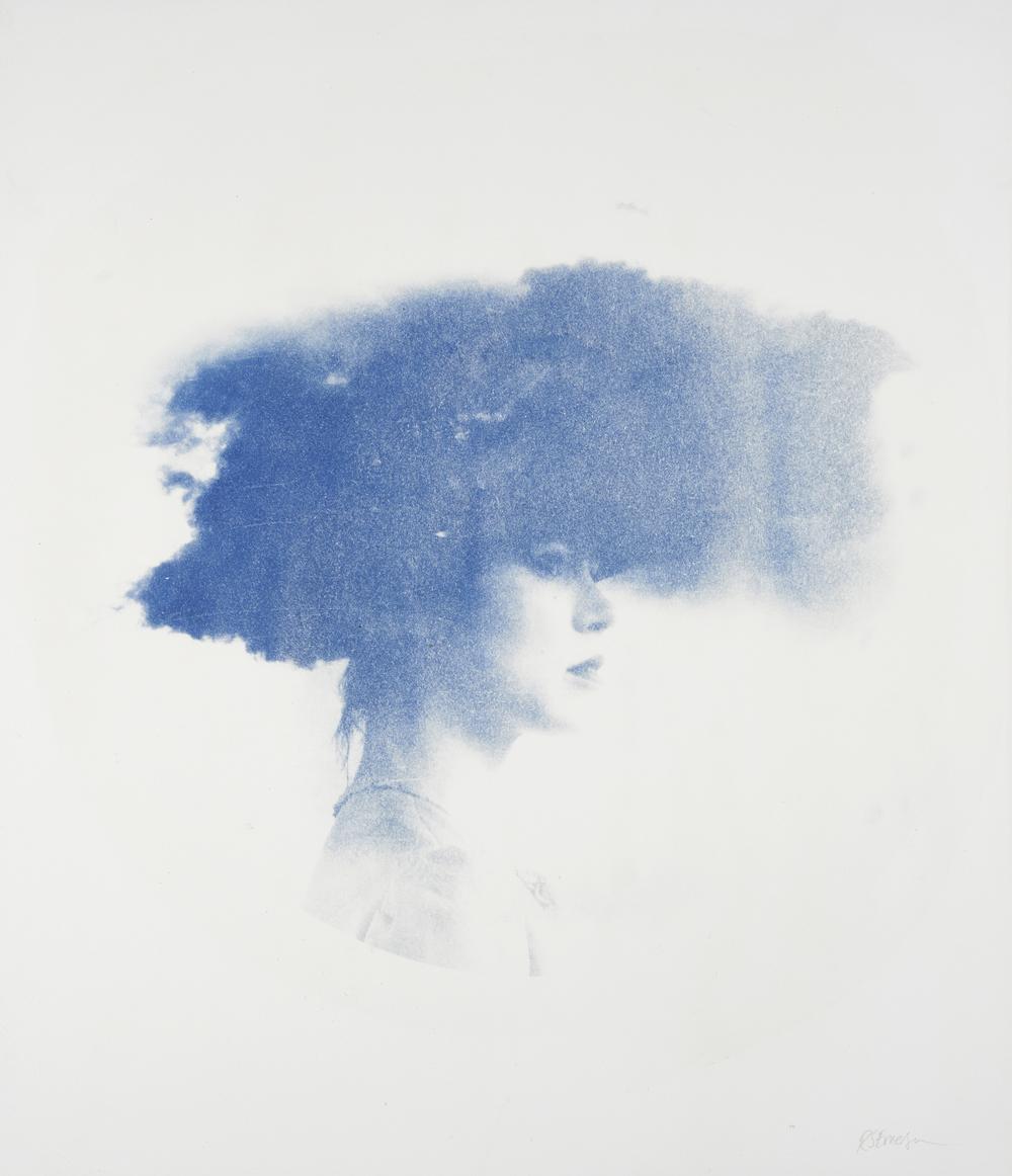 Nephele  – Unique Cyanotype on Somerset satin Paper Artwork: 87 x 76 cm 2014