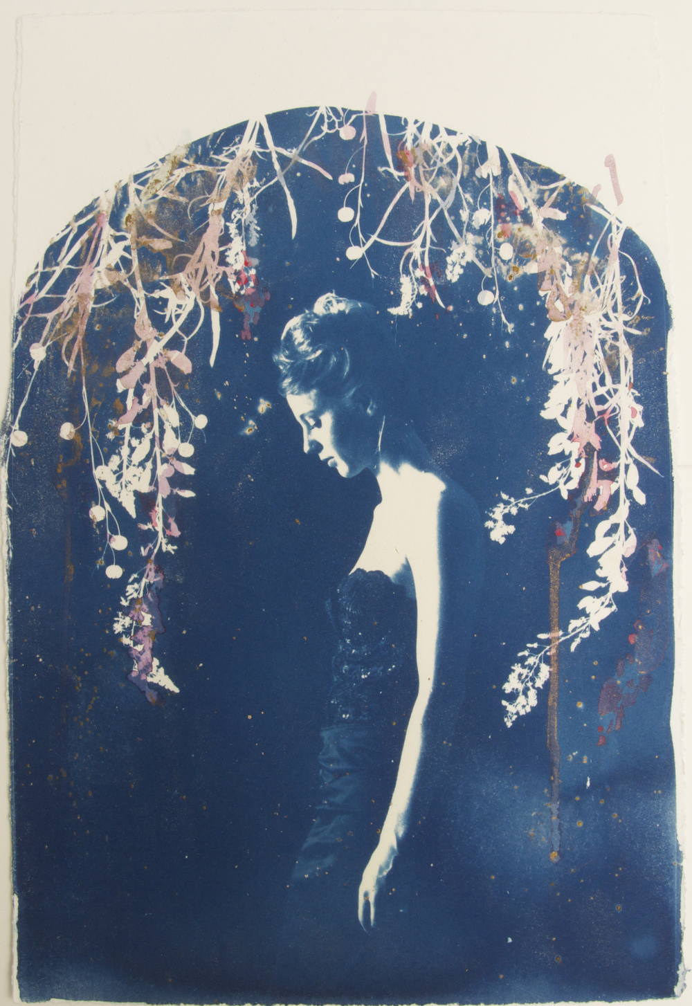 Lyra - Ed. 3 of 6 Hand painted Cyanotype on Somerset Satin Paper Artwork: 37 x 22 cm (34 x 48 cm framed) 2015