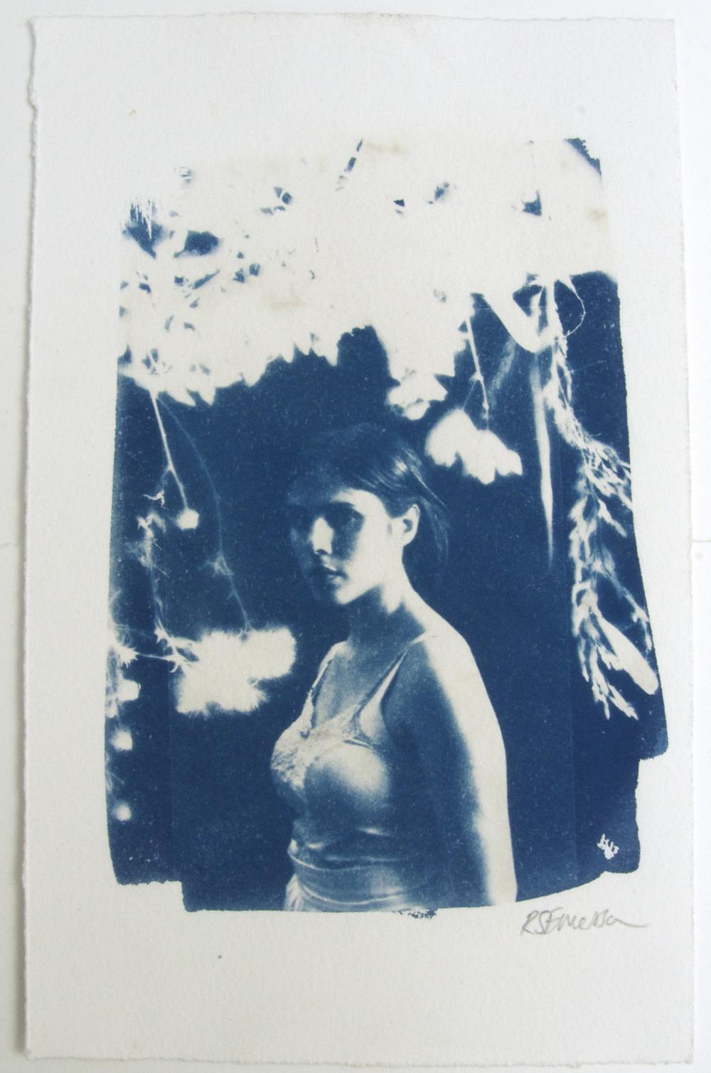 Night Walking  – Original + 2 AP's Cyanotype on paper, framed Artwork: 16.6 x 26.8 cm (34 x 48 cm framed) 2015