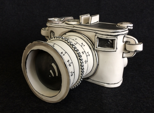 Katharine Morling  - Camera  - 2019 - Porcelain and Black Stain - available on commission