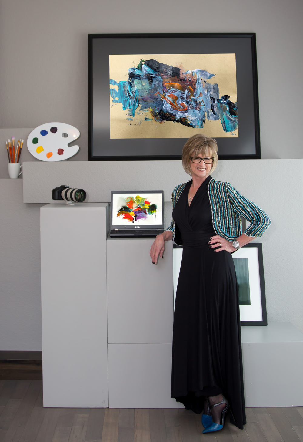 "Kathy Skarvan   Contemporary Fusion Art   As an artist, I am driven by eye appeal. I have a passion for people, gain energy from my environment and am motivated by the emotional reward I receive when others appreciate my work. I am often asked, ""What is fusion art?"" Quite simply, it is when multidisciplinary art mediums converge into stunning composites. For me it is where the camera meets technology and other modes of creative expression.   Visit Artist's Website"