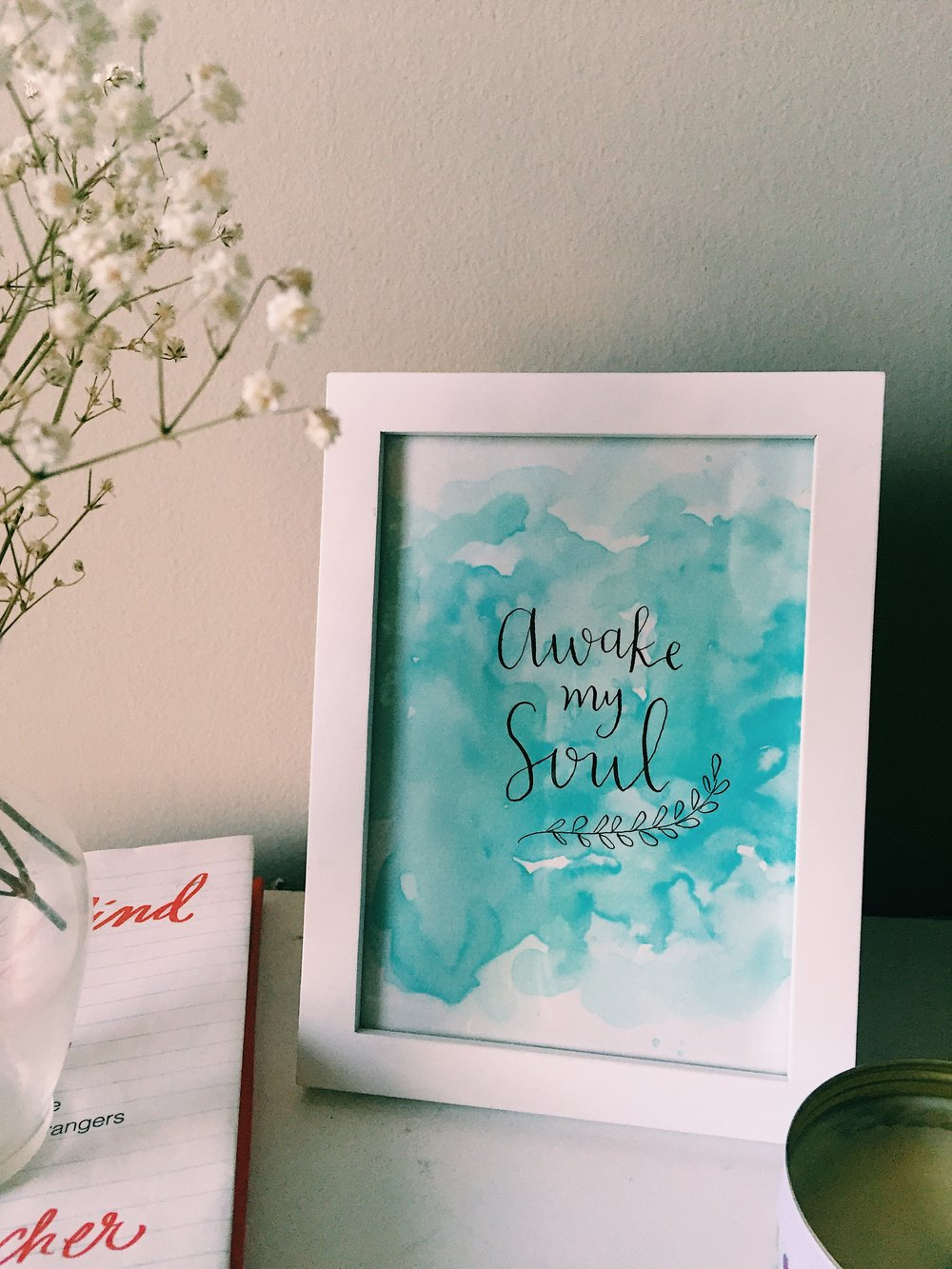 Receive this free downloadable Awake My Soul watercolor print with any Windrose purchase now through Tuesday at midnight!