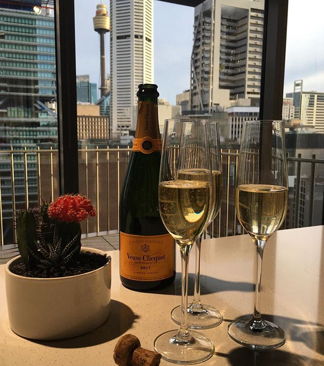 The only way to end a very busy but fabulous week here at #Honcho 🍾 #gohustle