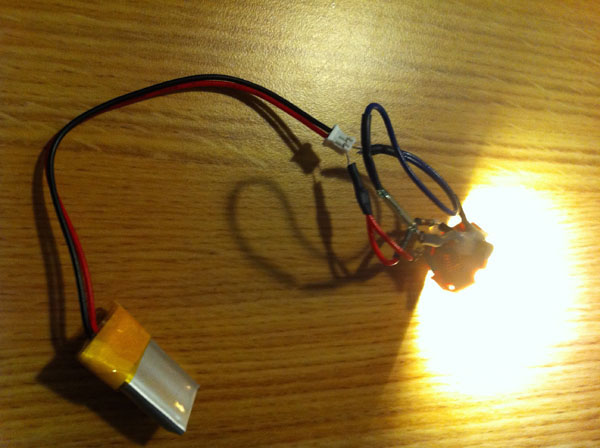 The SMT 5W LED needed to use the aluminum housing to act as the heat sink.