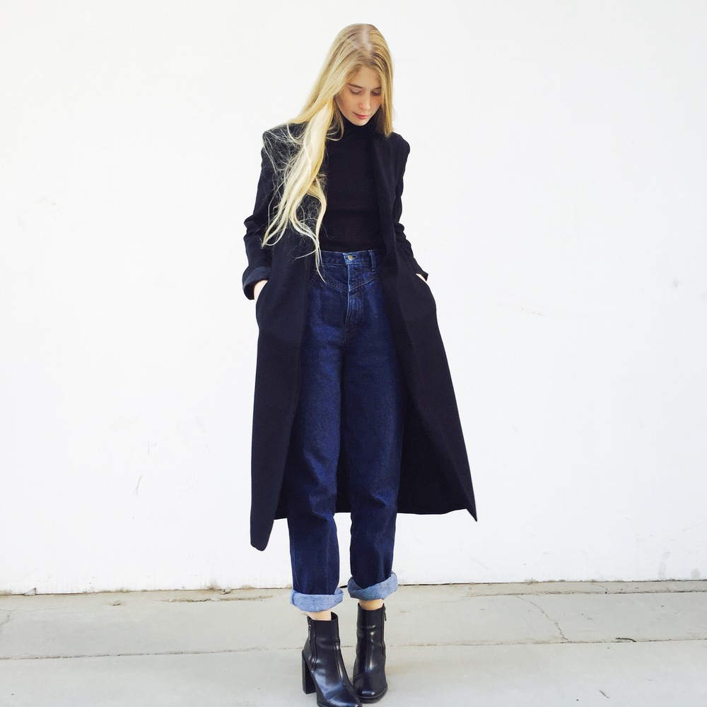 it gets cold and i feel european again. black and navy surely never gets old. top and jeans vintage - coat lauren by ralph lauren - boots zara