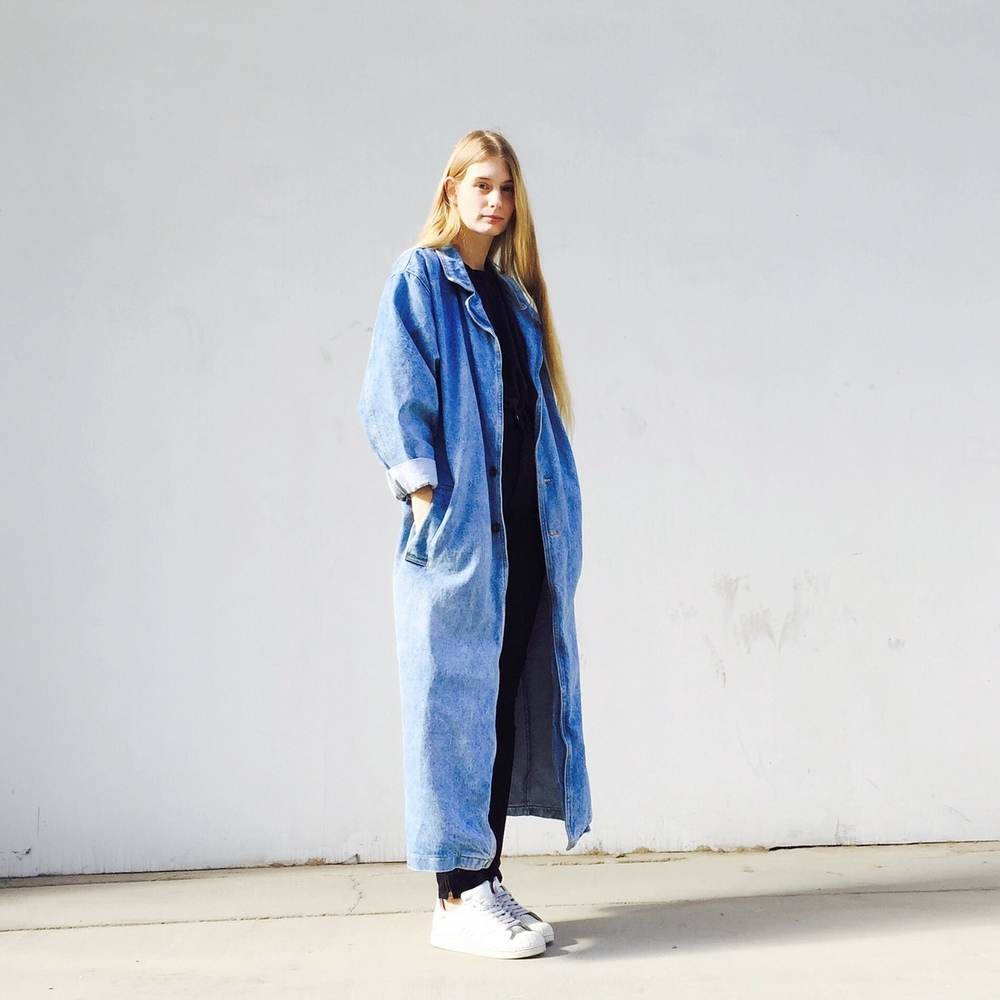 I thought I was dreaming. A denim trench coat. I wore it a few times, now I am selling it HERE