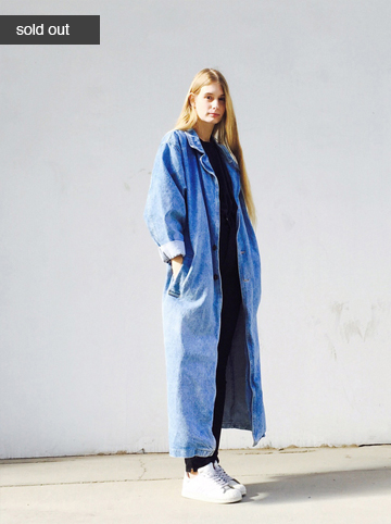 denim trench   $80.00