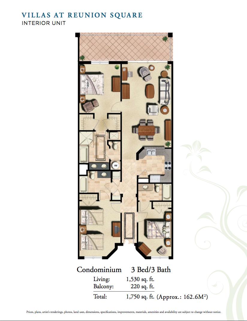 Planta do apartamento. Os móveis na planta diferem dos móveis que existem no apartamento.