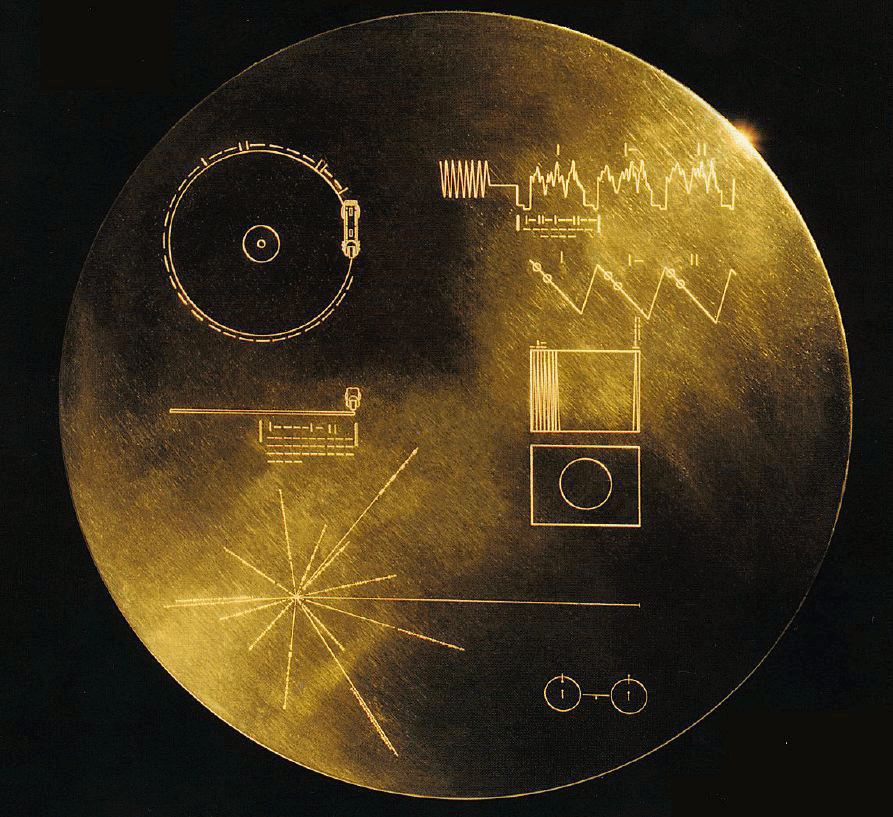 The Golden Record, photo credit NASA