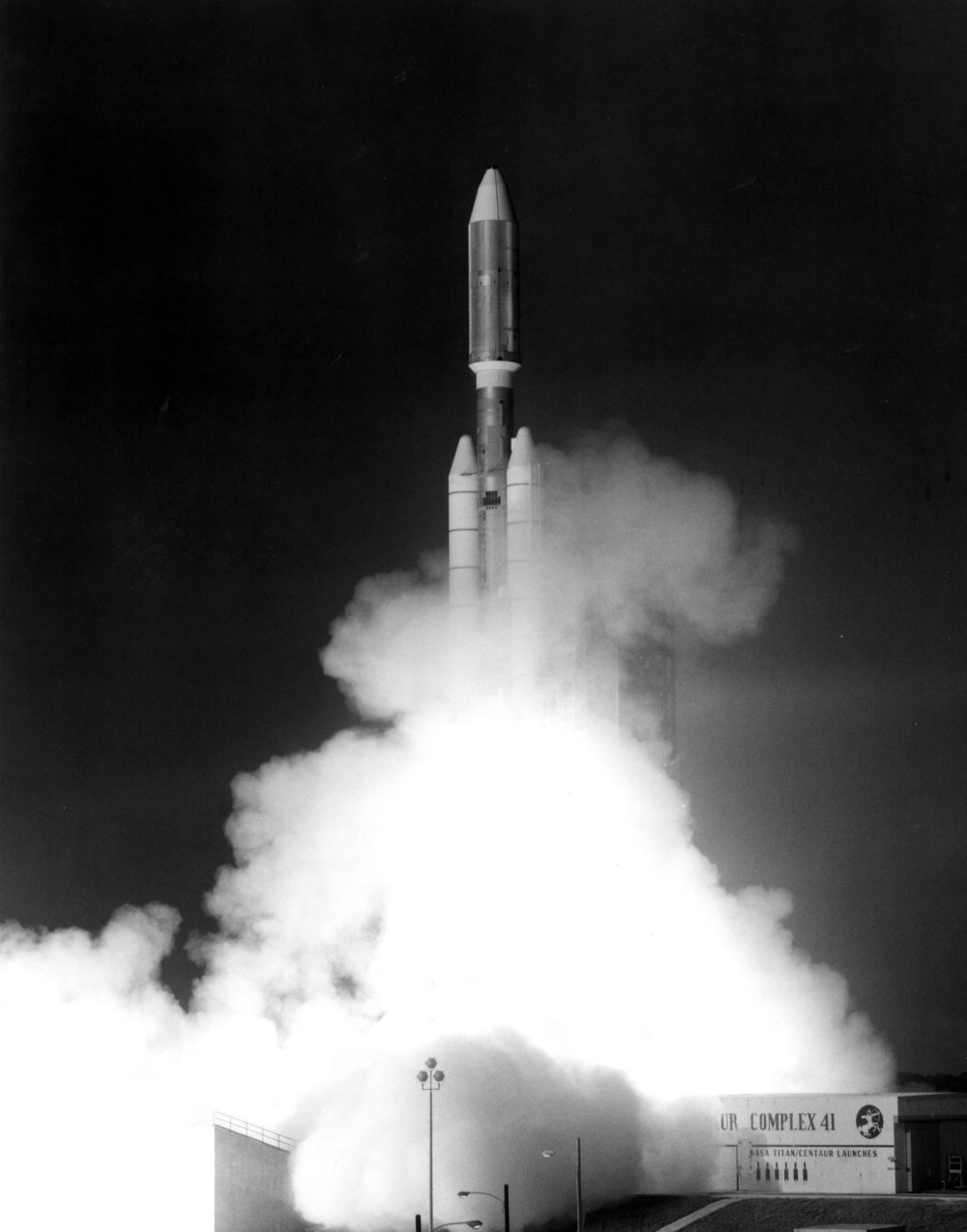 The Launch of Voyayer 1 on board Titan IIIE in 1977, photo credit NASA