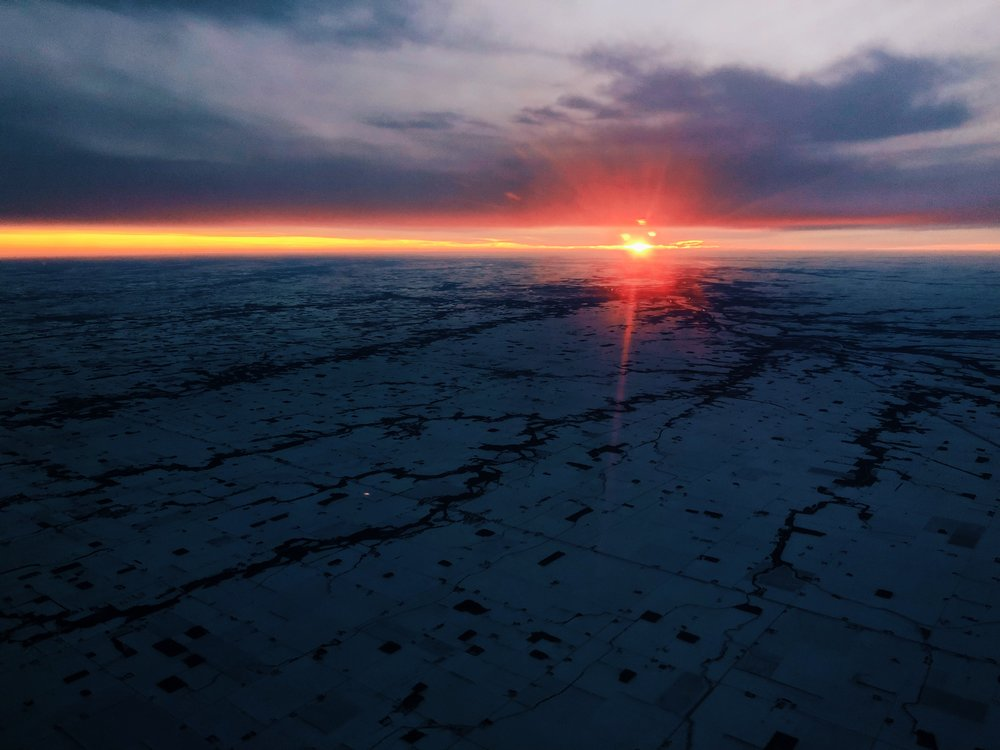 Sunset @ 25,000ft, Indiana, 12/27/2017