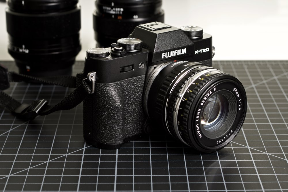 FujiFilm X-T20 with K&F Concept Nikon F to Fuji X mount adapter, Nikkor 50mm ƒ1.8 E-Series