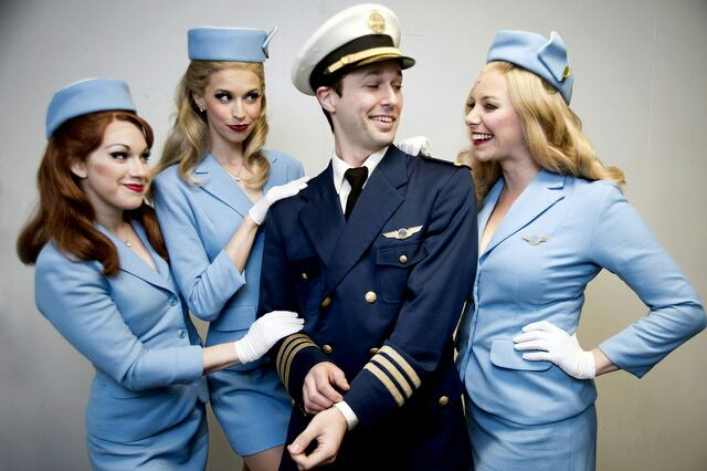 Catch Me If You Can National Tour, 2012-2013, Publicity Photo (with Nadia Vynnytsky, Mary Claire King and Daniel J. Self)
