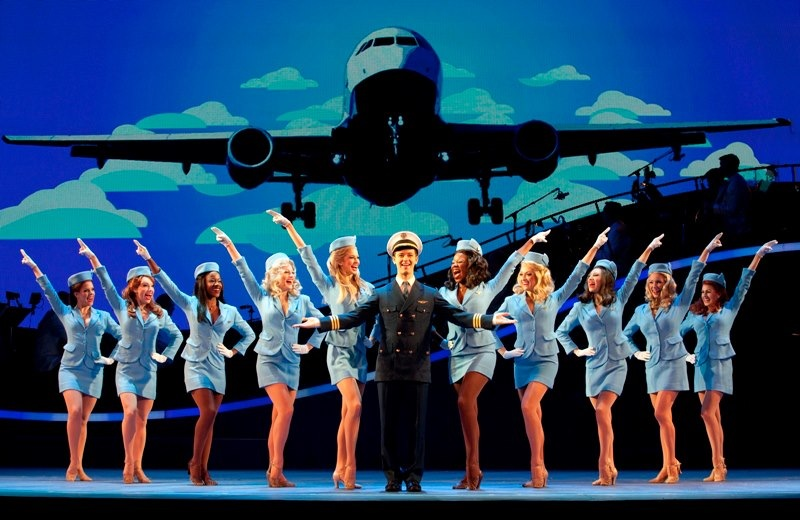 "Catch Me If You Can National Tour, 2012-2013, Publicity Photo (""Jet Set"" with Stephen Anthony as ""Frank Abagnale Jr."")"
