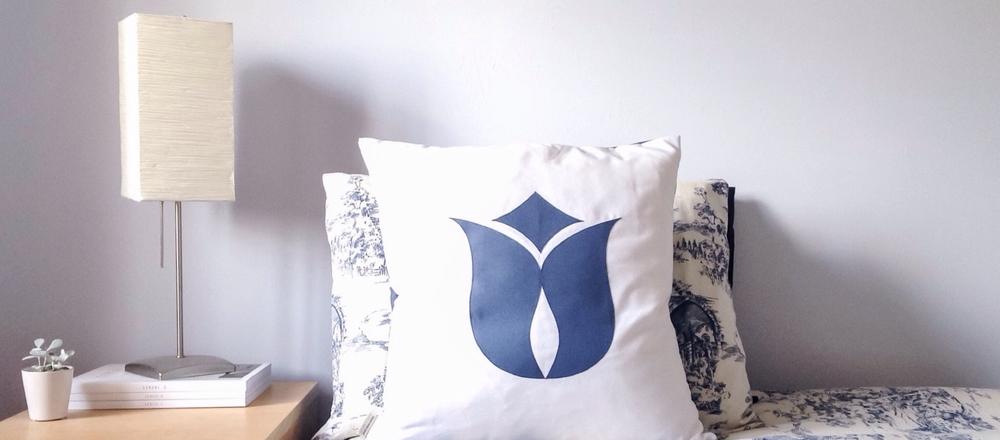 Brown Eyed Suzy Custom Tulip Throw Pillow