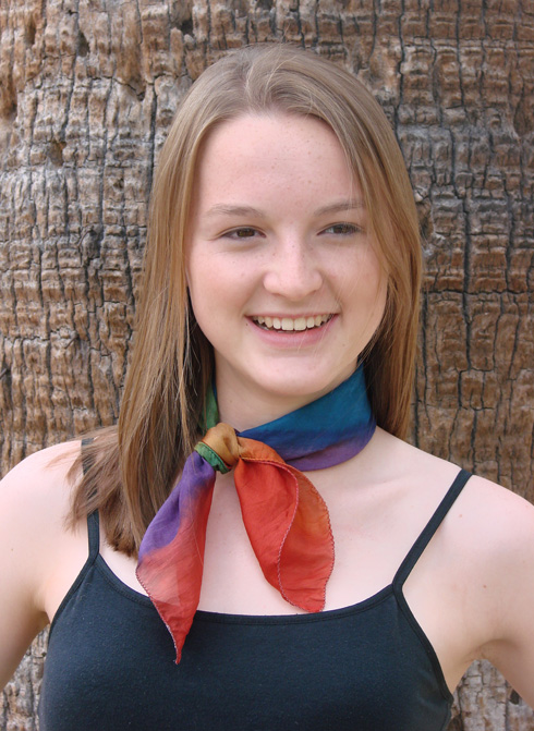Rainbow Silk Scarf from Silk Road Spirit