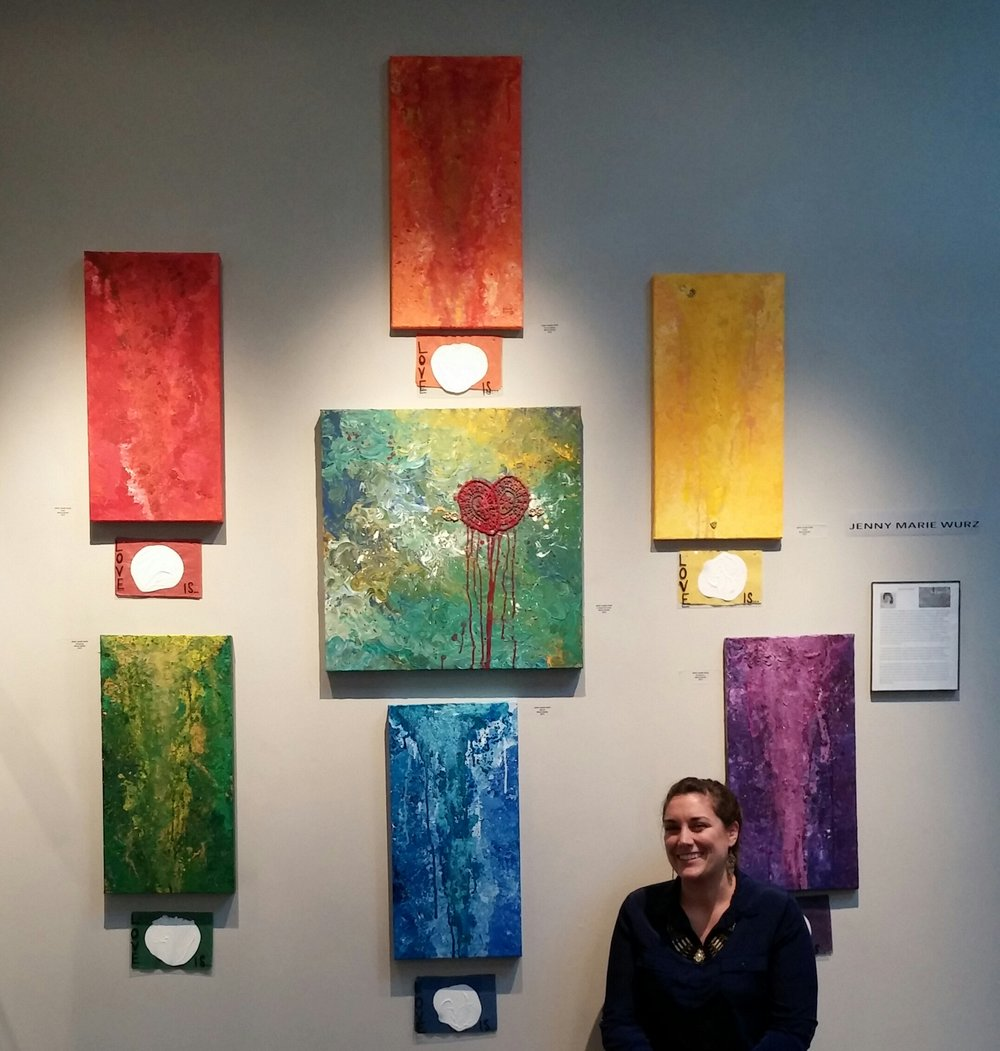 "October 2016  ""Love Is"" series on exhibit @ San Francisco Women Artists Gallery"