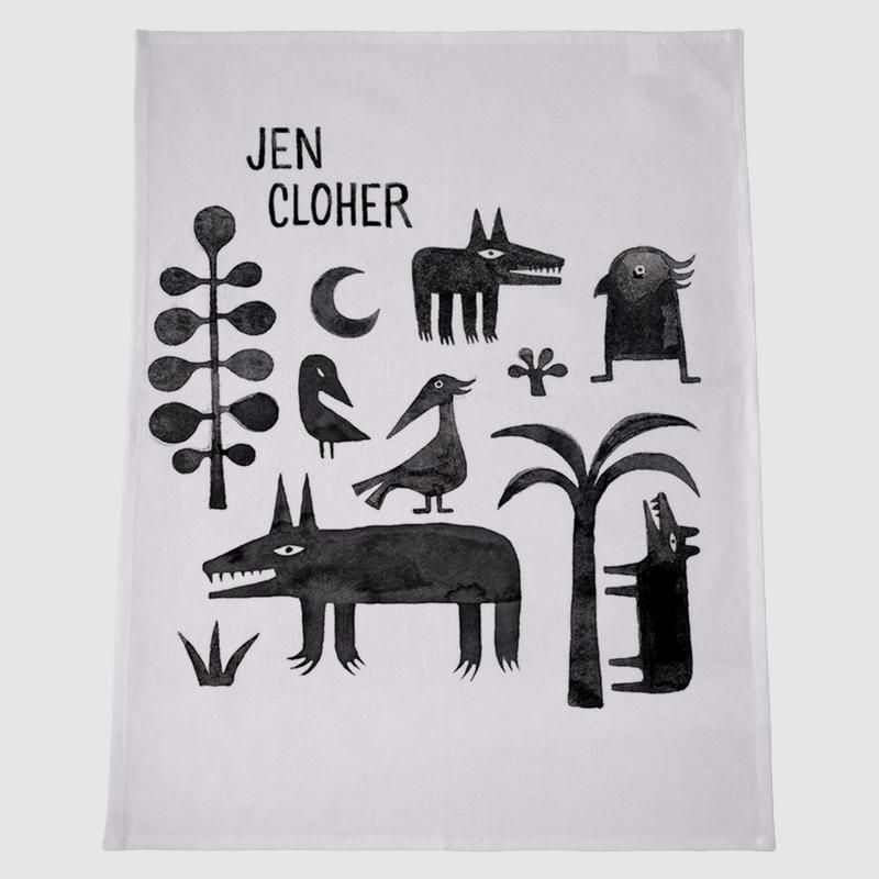 Jen Cloher teatowel - artwork by Minna Leunig
