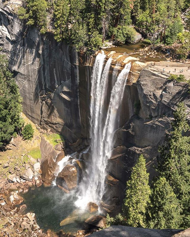 Vernal Falls seen from Clark Point. Yosemite did not disappoint. #parktopark2016