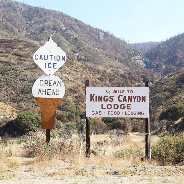 Our first impression of Kings Canyon National Park...