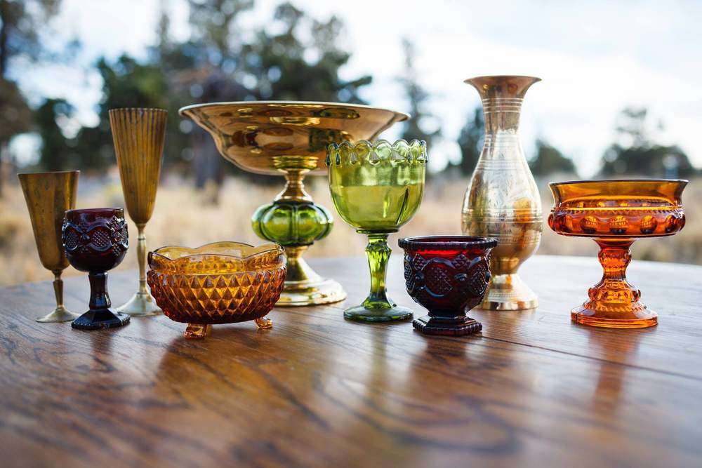 Pressed glass vases and vessels assorted colors and sizes.JPG