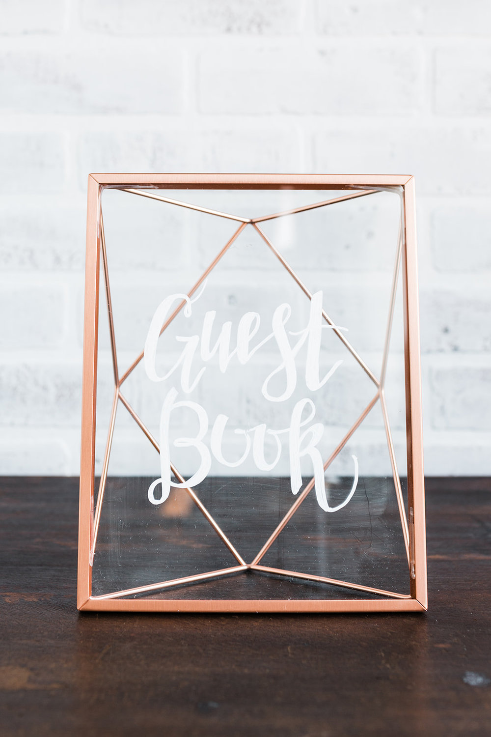 Geometric Copper Frame — Curated Event Rentals | Styling