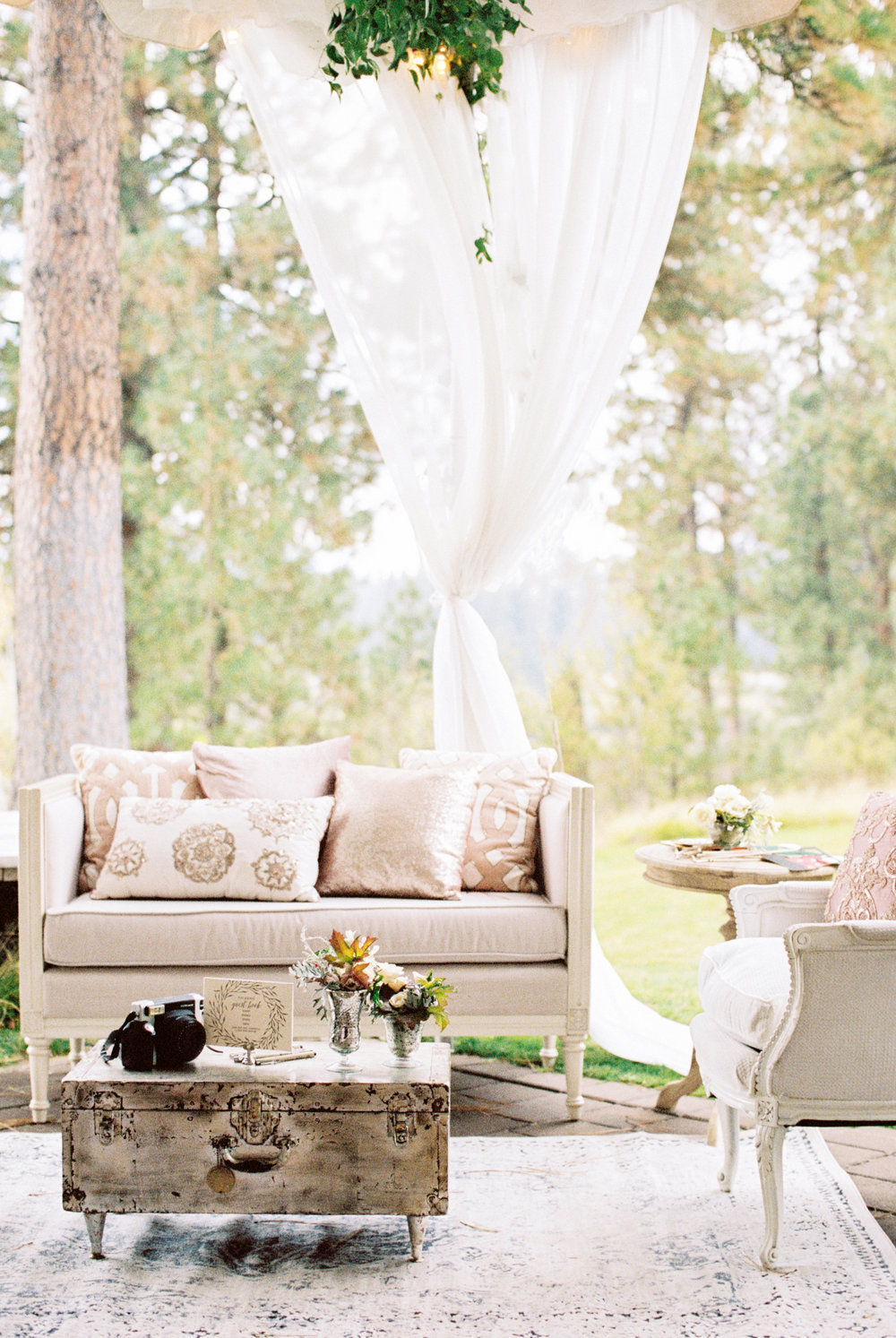Soft Pink Romantic Wedding at House on Metolius featured on Style Me Pretty