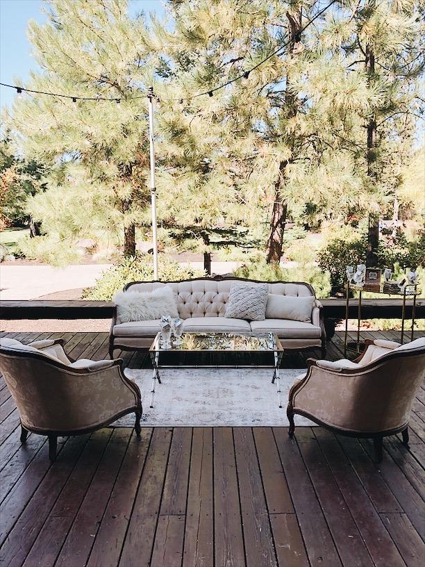 Sunriver Summer Wedding Cigar Lounge
