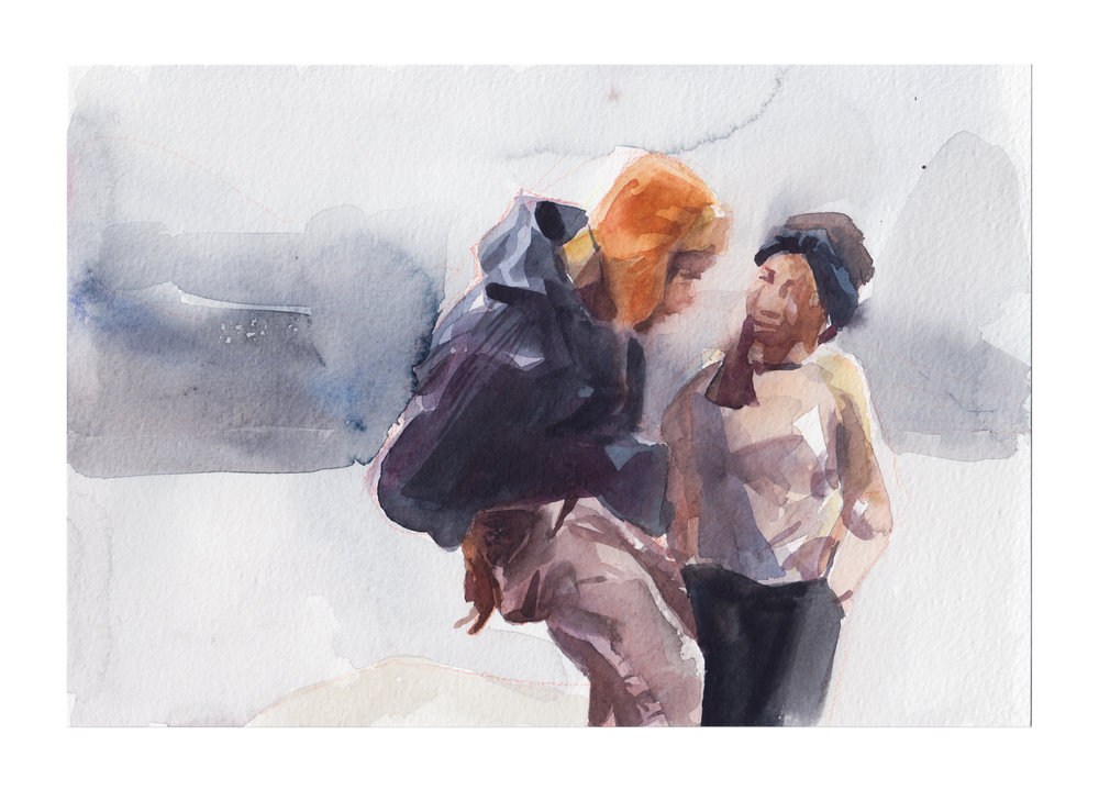IlyaViryachev_EscapePlan_2018_WatercolorOnHotpressedPaper_7.5x10inches_CAD350(framed).jpg