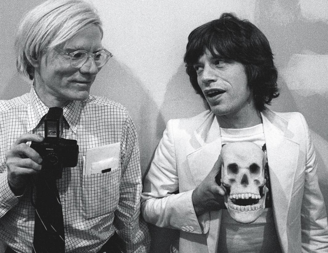 CRÁNEO Y HUESOS CRUZADOS - Página 6 Warhol_and_mick_jagger