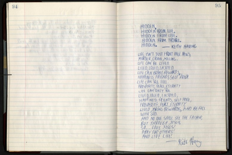 keith_haring_notebook_brooklyn_museum