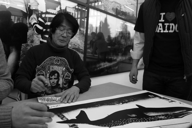 Daido_Moriyama_Silkscreen_Workshop_at_Polka_Galerie