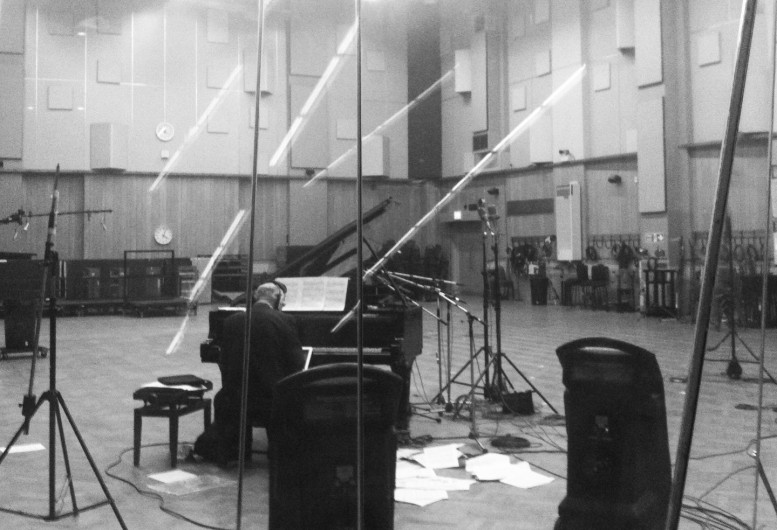 Michael Nyman recording in Studio One at Abbey Road Studios adarsha benjamin