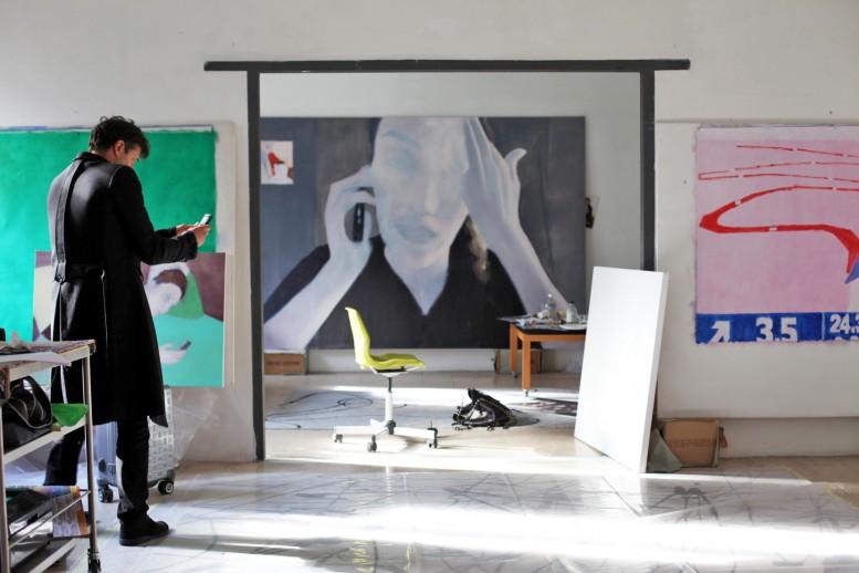 MiltonManetas_His_Studio_in_Rome