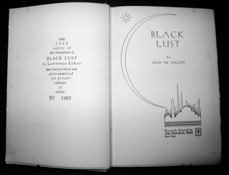 Jean Villiot's Black Lust