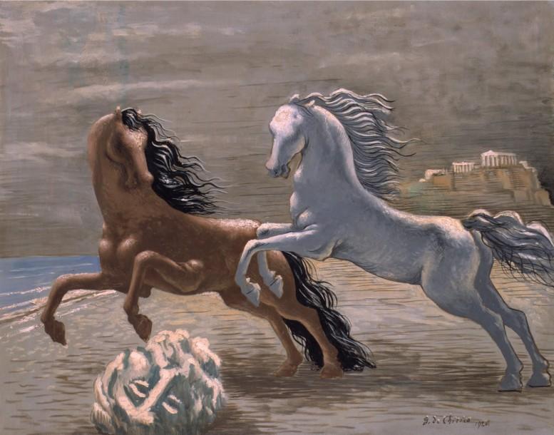 Giorgio de Chirico - Cavalli_in_riva_al_mare_1928