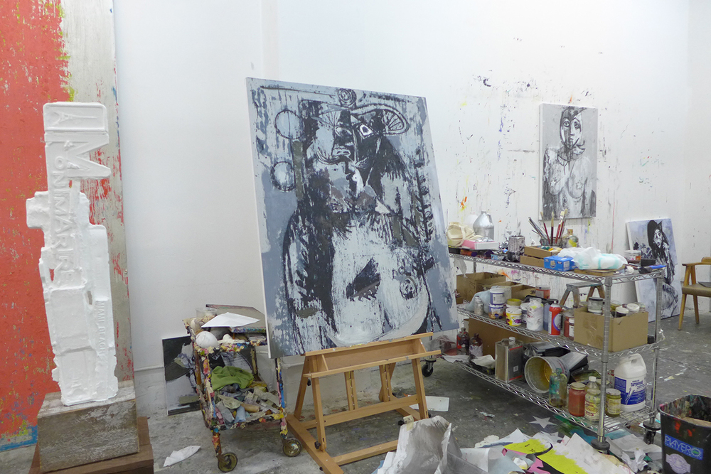 a peek at Enoc Perez's studio in New York