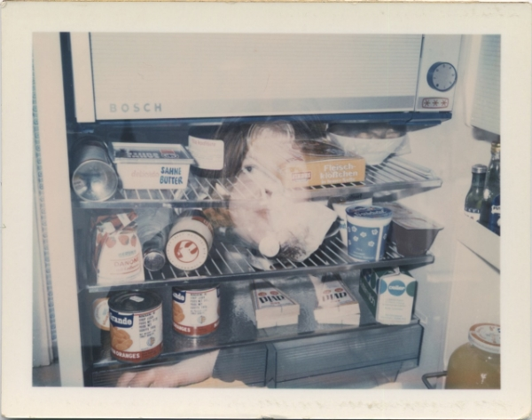 Brigid Berlin Untitled (Self-Portrait Double Exposure with Refrigerator), ca. 1971-1973