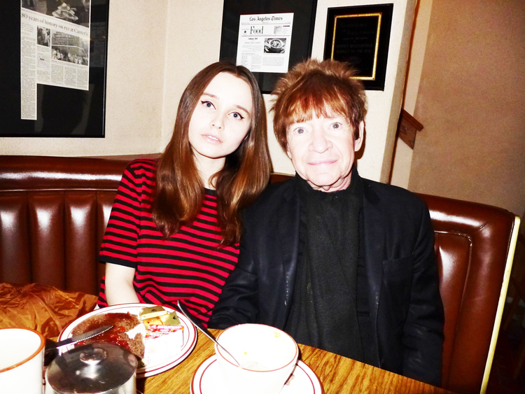 Family photo of the actress, dating Rodney Bingenheimer, famous for  BC Butcher.