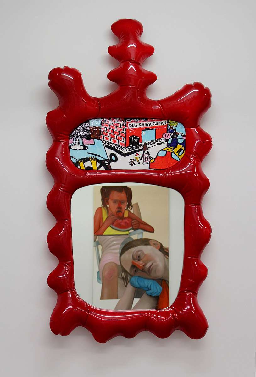 "Misha Kahn ""Saturday Morning Series: Red Wall Mirror"" 2015"