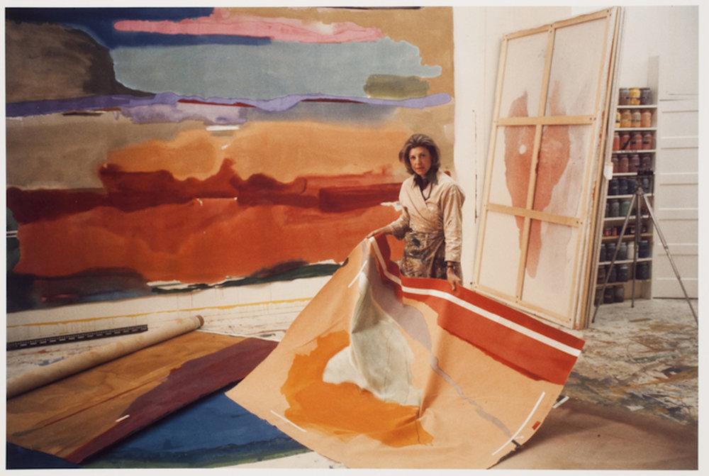 Helen Frankenthaler, New York City, 1974. Photograph by Alexander Liberman  Source: International Center for Photography